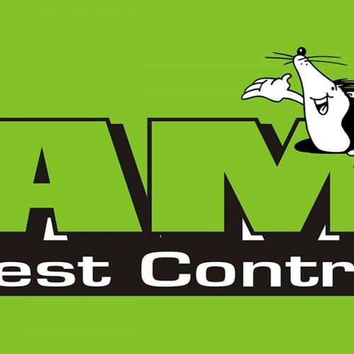 graphic logo of AM Pest Control