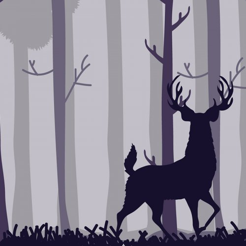 illustration of a stag red deer
